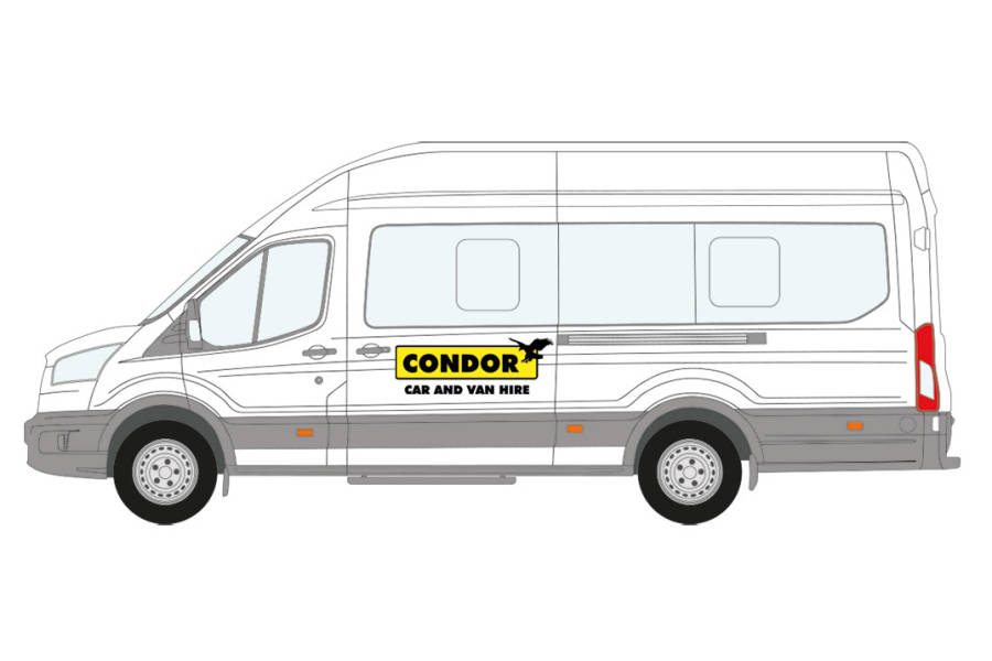 Ford Transit 430 Shr Bus 17 Str from Condor Self Drive