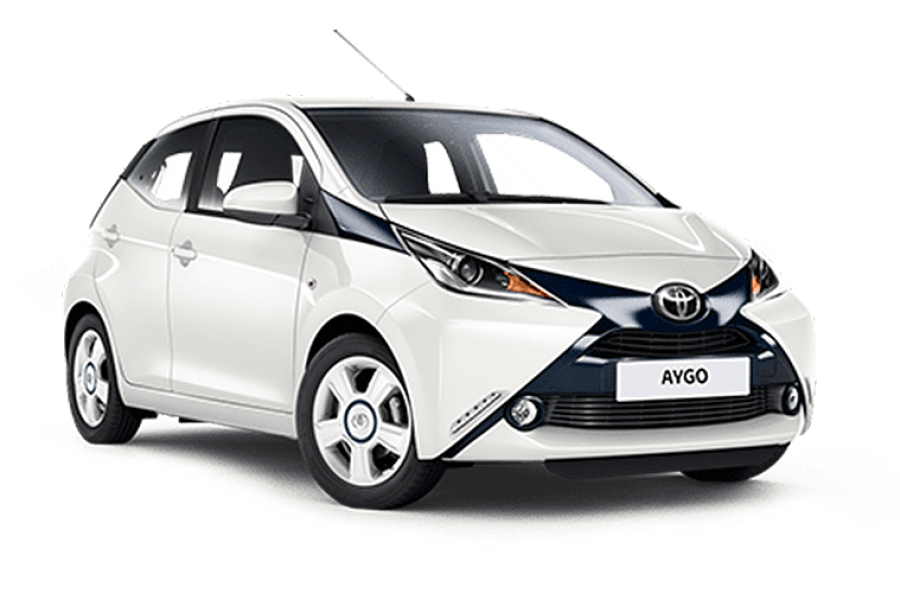 Toyota Aygo Vvt-i Mode Ac for hire from Condor Self Drive