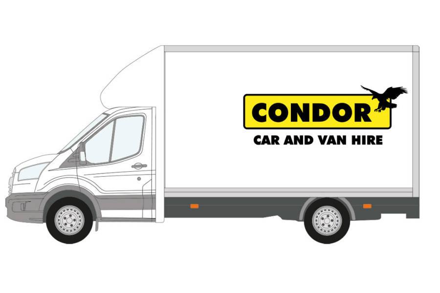 Ford Transit Luton 350 Tail Lift for hire from Condor Self Drive